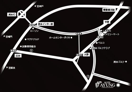 アユン地図